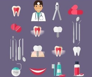 background, dentist, and fun image