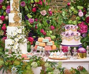 cakes, flowers, and champagne image
