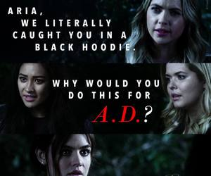 pretty little liars, aria montgomery, and alison dilaurentis image