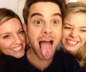 lucy hale, troian bellisario, and pretty little liars image