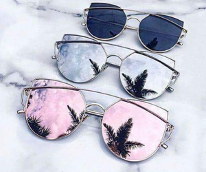 black, fashion, and sunglasses image