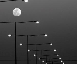 moon, light, and night image