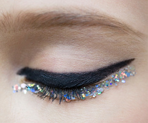 chic, eyes, and lipstick image