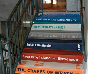 stairs and books image