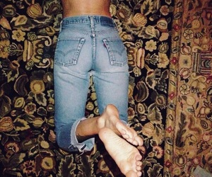 booty, boyfriend jeans, and levi's image