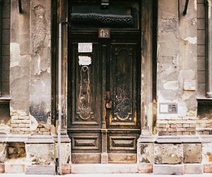 art, city, and door image