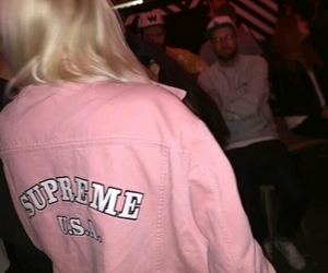 supreme, pink, and style image