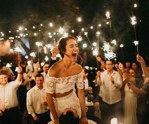 couple, wedding, and girl image