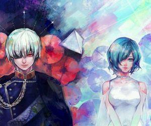 touka, tokyo ghoul, and kaneki image