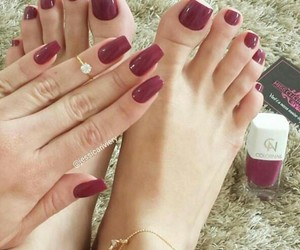 color, pedicure, and manicure image