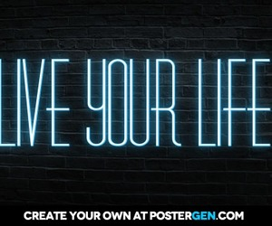 neon lights and quotes image