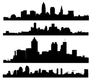 black, black & white, and city image