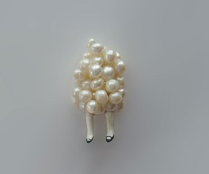 pearls, brooch, and legs image