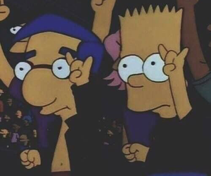 bart simpson, punk, and rock image