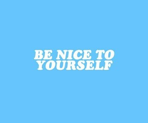blue, positivity, and quote image