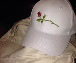 rose, fashion, and cap image