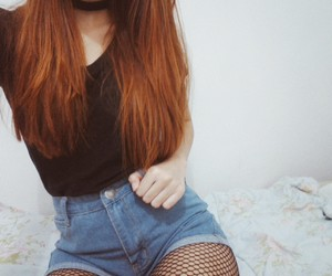 redhead, fashion, and girl image