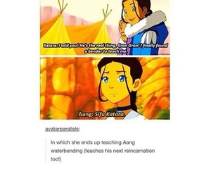 avatar, toph, and aang image