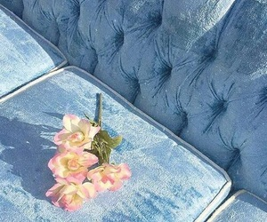 aesthetic, blue, and couch image