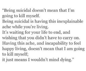 depressed and suicidal image