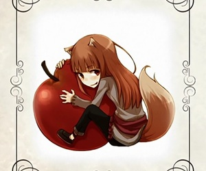 anime, spice and wolf, and chibi image