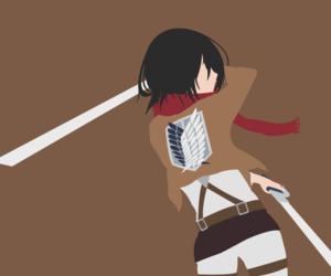 anime, anime girl, and mikasa ackerman image