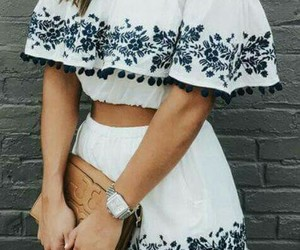 fashion, crop top, and moda image