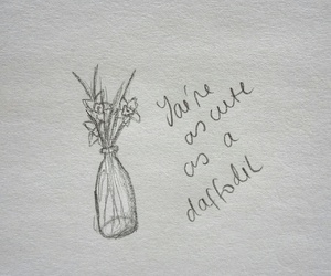 daffodils, flowers, and words image