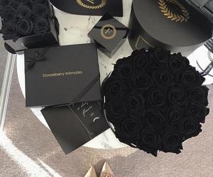 flowers, black, and luxury image