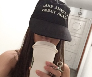 coffee, hat, and style image