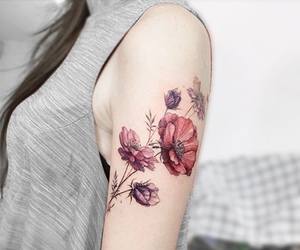floral, ink, and Tattoos image