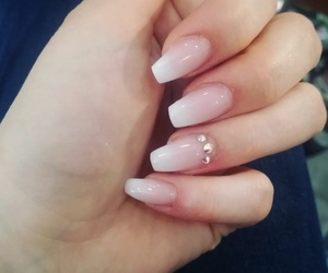 acryl, nails, and pink image