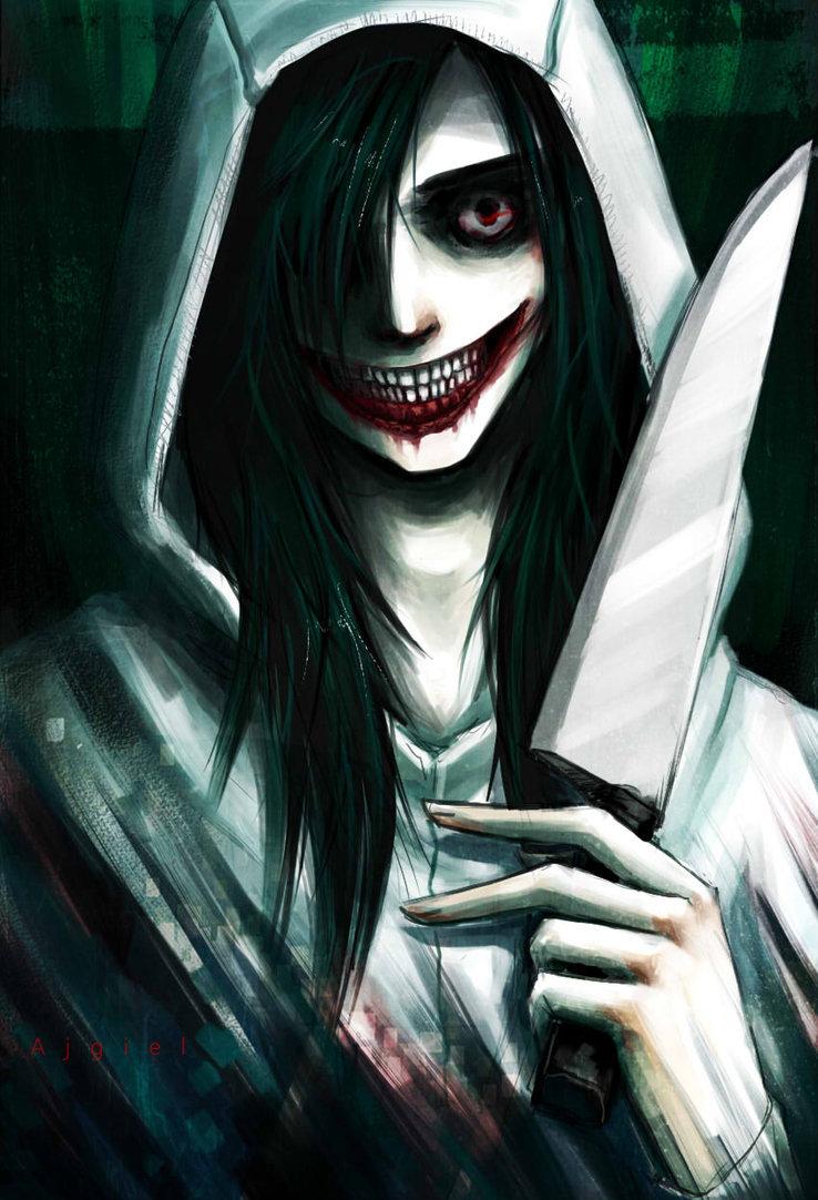 jeff the killer, creepypasta, and knife image