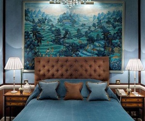 bedroom, blue, and inspiration image