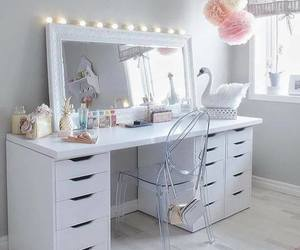 white, makeup, and bedroom image