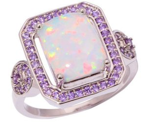 amethyst, ring, and white image