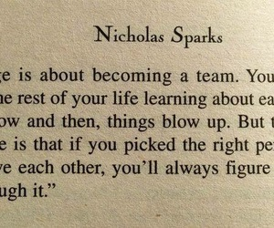 book, marriage, and nicholas sparks image