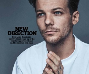 louis tomlinson, one direction, and magazine image