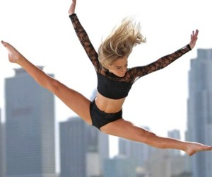 contemporary, dance, and jump image