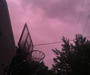 aesthetic, clouds, and purple image