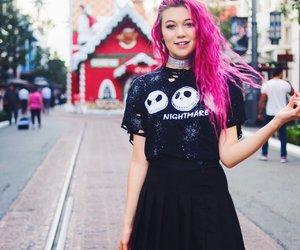 beautiful, youtube, and pinkhair image
