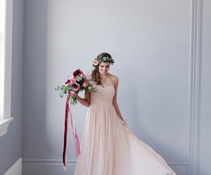 dress, flowers, and smile image