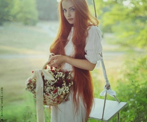 beautiful, red, and long hair image