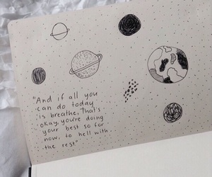 planet, quotes, and drawing image