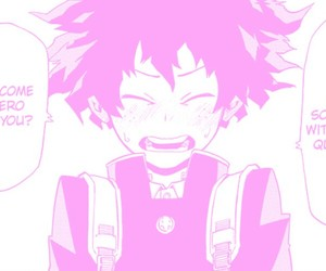 aesthetic, pink, and pink manga image