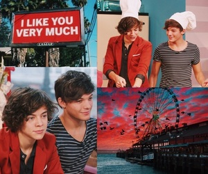 larry stylinson, Harry Styles, and red image
