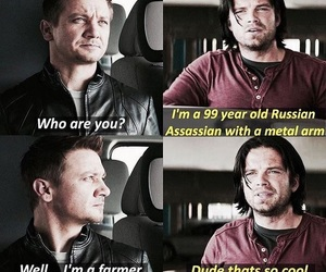 bucky, Marvel, and funny image