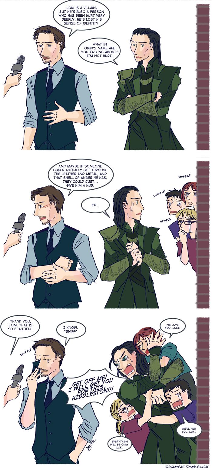 Let's hug Loki by ~johanirae on We Heart It