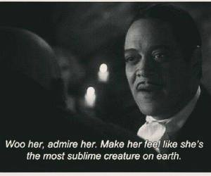 gomez addams, make her feel, and woo her sublime image