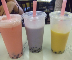 bubble tea, pastel, and colors image